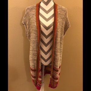 Chico's Front Duster Knit Cardigan